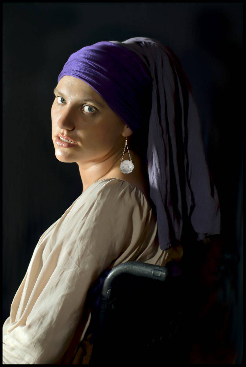 Self Portrait - Girl with a Pearl Earring after Vermeer.