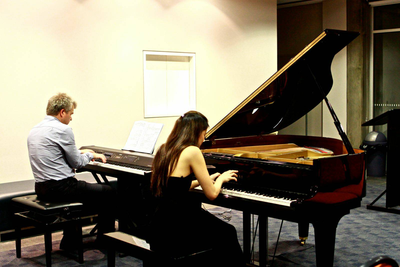 Elina Yasumoto & Phillip Shovk performing Rachmaninoff's Piano Concerto No. 3 in D minor
