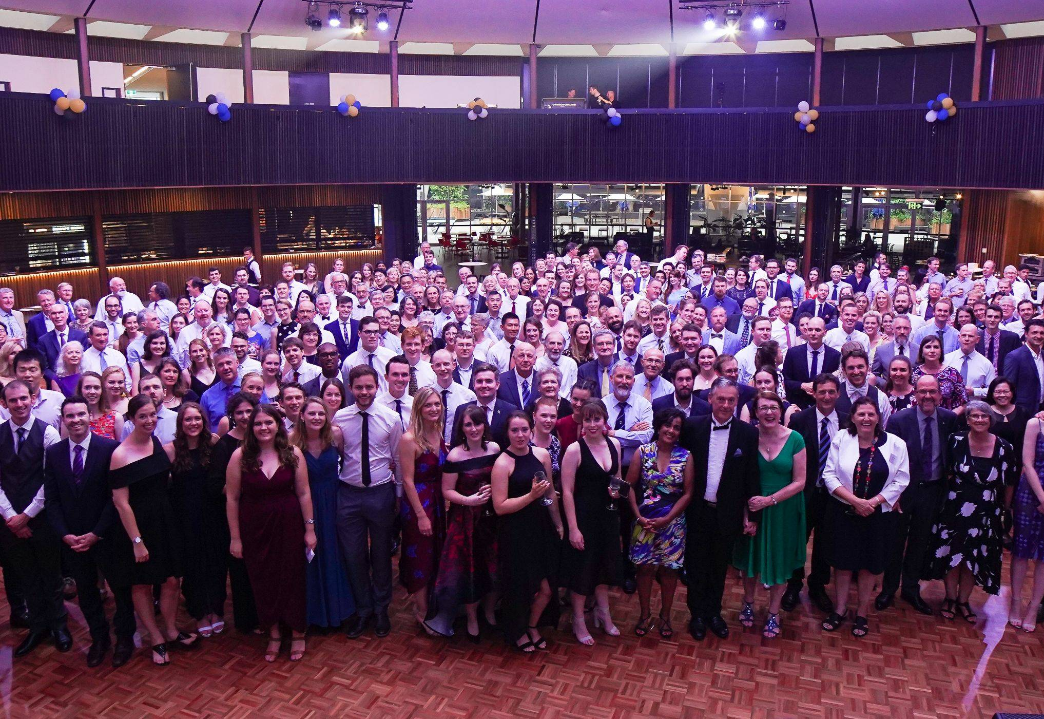 Photograph of all alumni at 50th anniversary ball